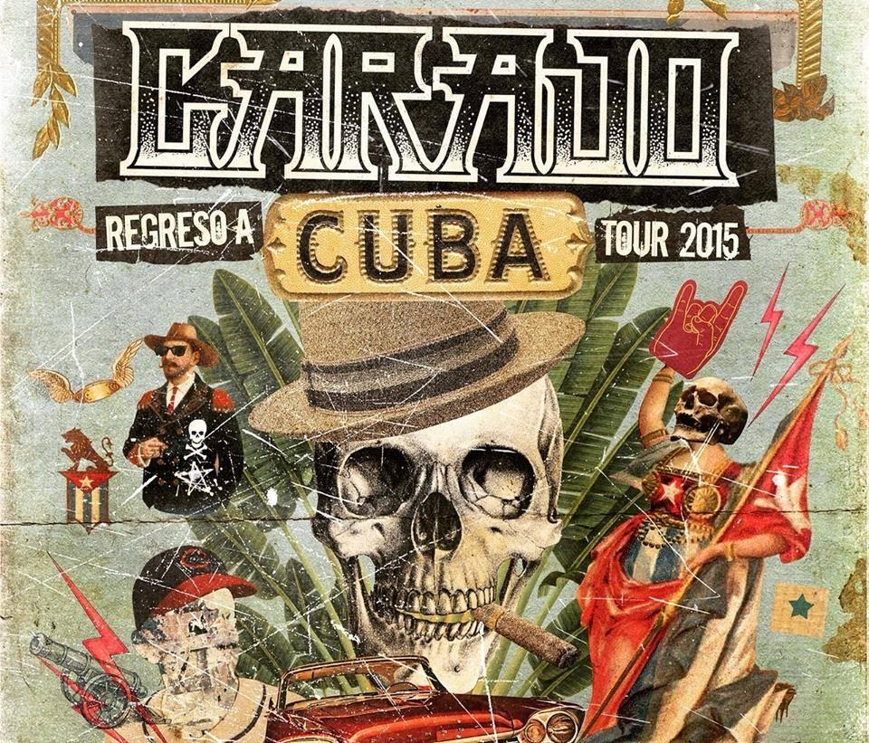 Cartel del concierto de Carajo en Cuba. Foto: cortesía del autor.