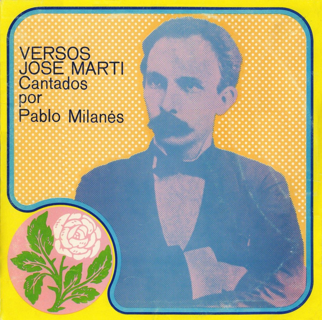 Cover of the disc Versos de José Martí. Sung by Pablo Milanés.