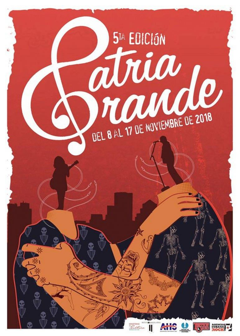 Official poster of the Patria Grande 2018 festival.