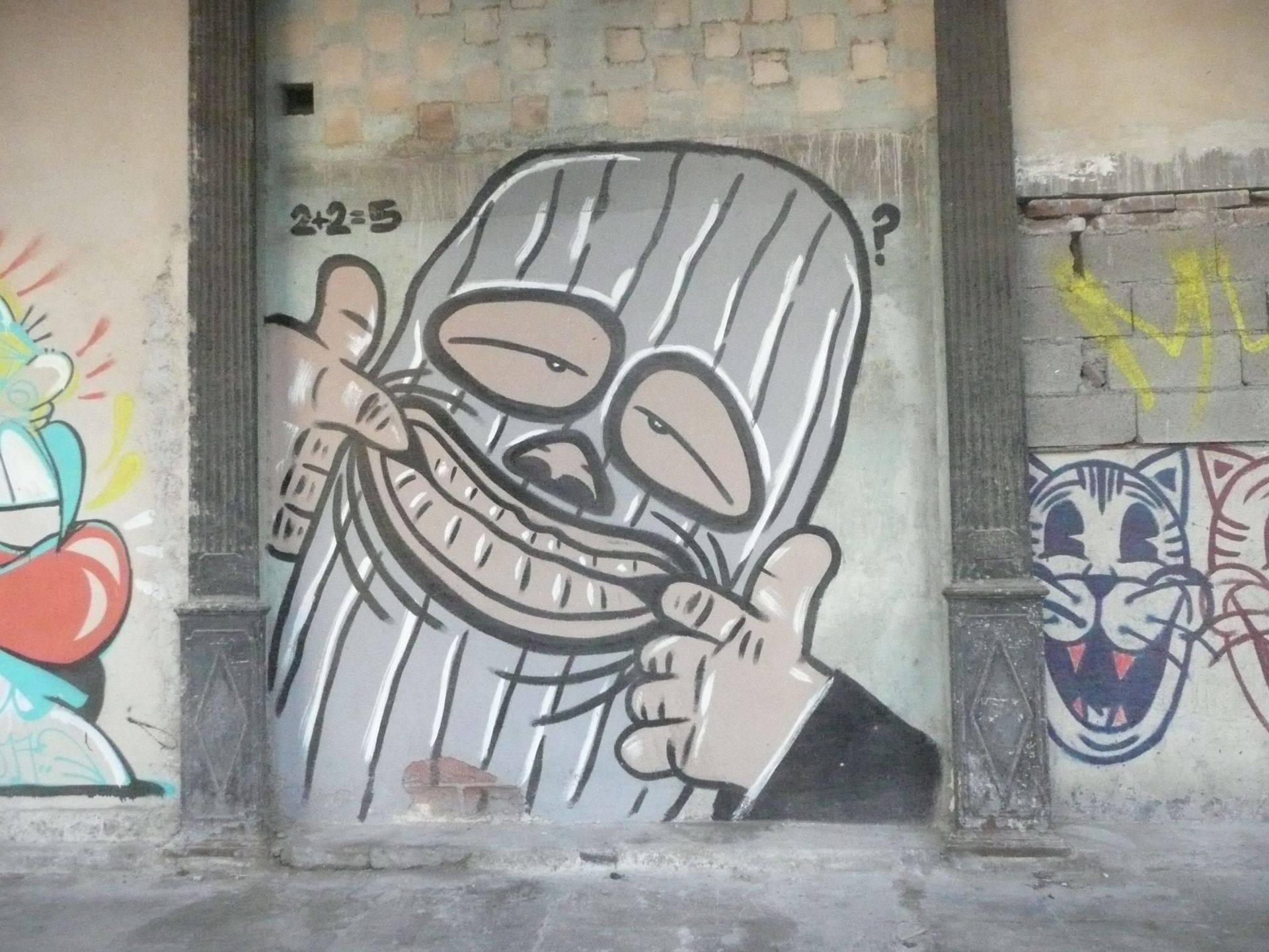 """Grafiti en una calle de Centro Habana. La fotografía forma parte de la exposición """"CUBA HIP-HOP. Colección y memoria de una cultura (1980- 2018)"""". Foto: Cortesía de Alejandro Zamora."""