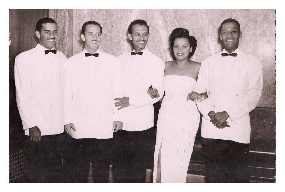 Quartet of Orlando de la Rosa. From left to right: Aurelio Reinoso, Alberto Barceló, Adalberto del Río and Elena Burke. Photo: Private archives Orlando de la Rosa-Adalberto del Río.