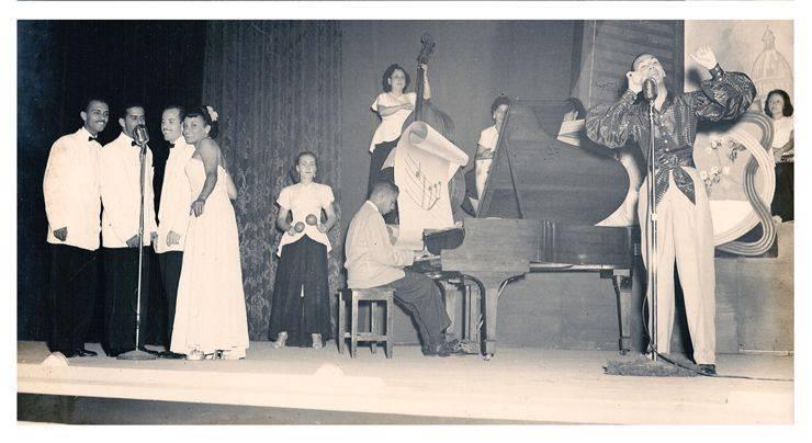 Cuarteto Orlando de la Rosa, Luis Carbonell, y orquesta Anacaona. Foto: Archivos privados Orlando de la Rosa-Adalberto del Río.