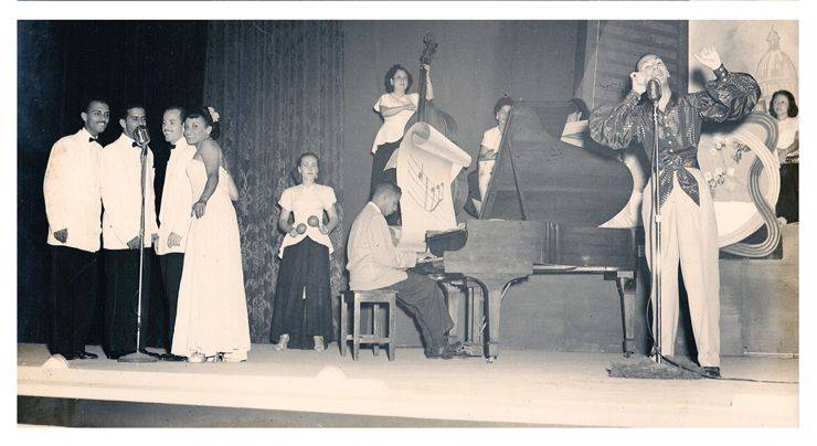 Quartet Orlando de la Rosa, Luis Carbonell, and Anacaona orchestra. Photo: Private archives Orlando de la Rosa-Adalberto del Río.