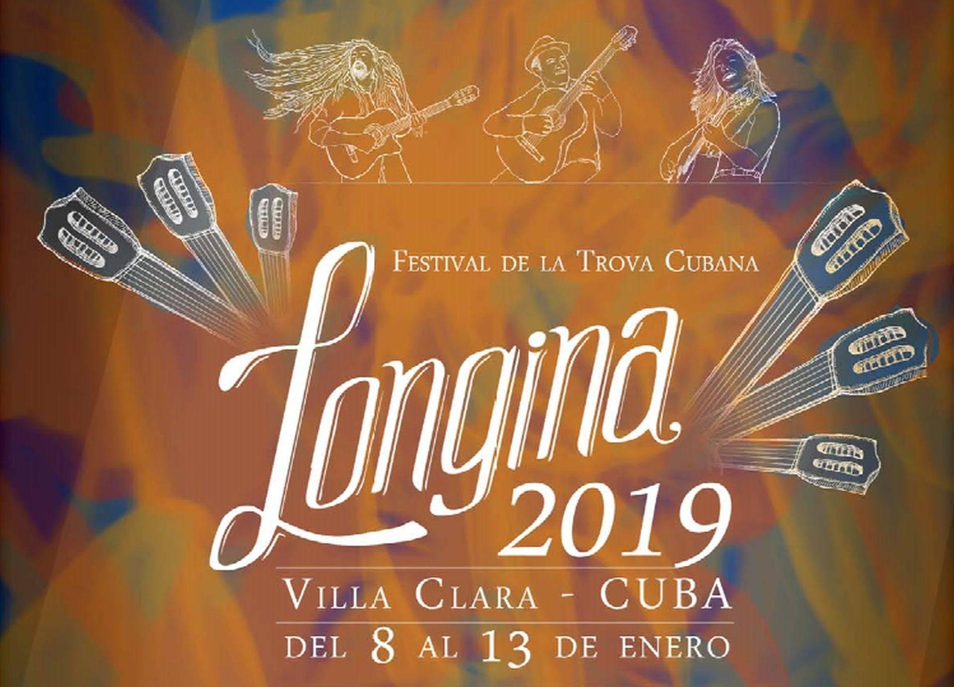 Detalle del cartel del Festival Loinga 2019, dedicado a Ela O' Farril y la décima. Foto: cortesía del Festival Longina.