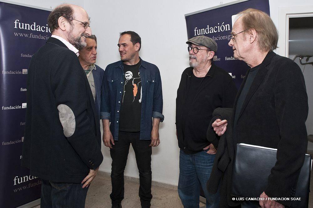 Luis Pastor, Ismael Serrano, Silvio Rodríguez y Luis Eduardo Aute, FundAción AUTOR, 2016. Foto: Luis Camacho / Fundación SGAE.