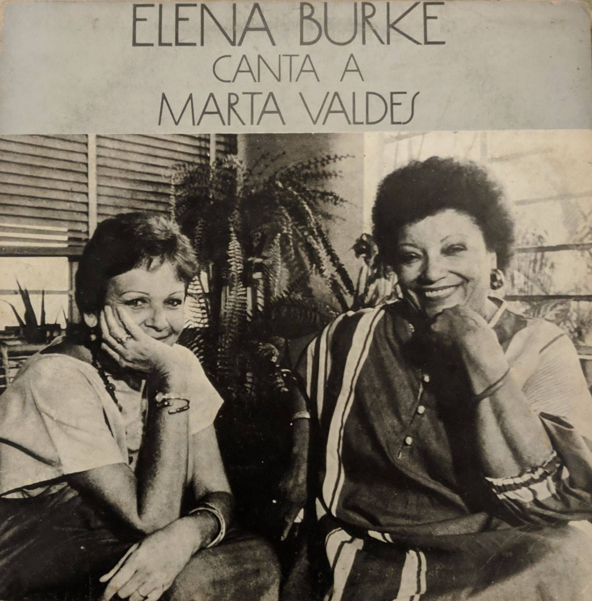 Cover of the album Elena Burke sings to Marta Valdés.