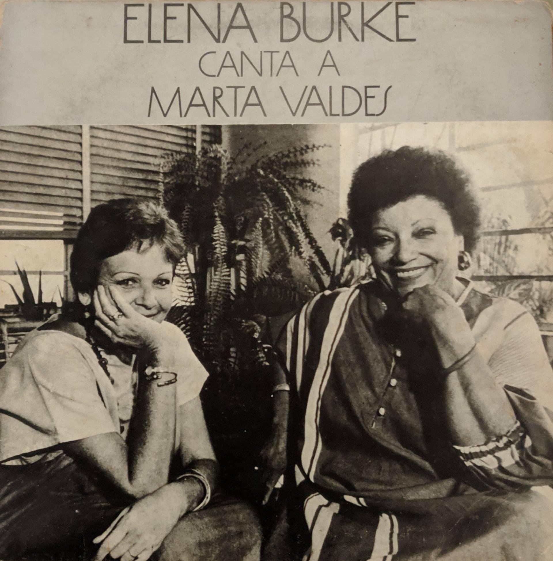 Portada del álbum Elena Burke canta a Marta Valdés.