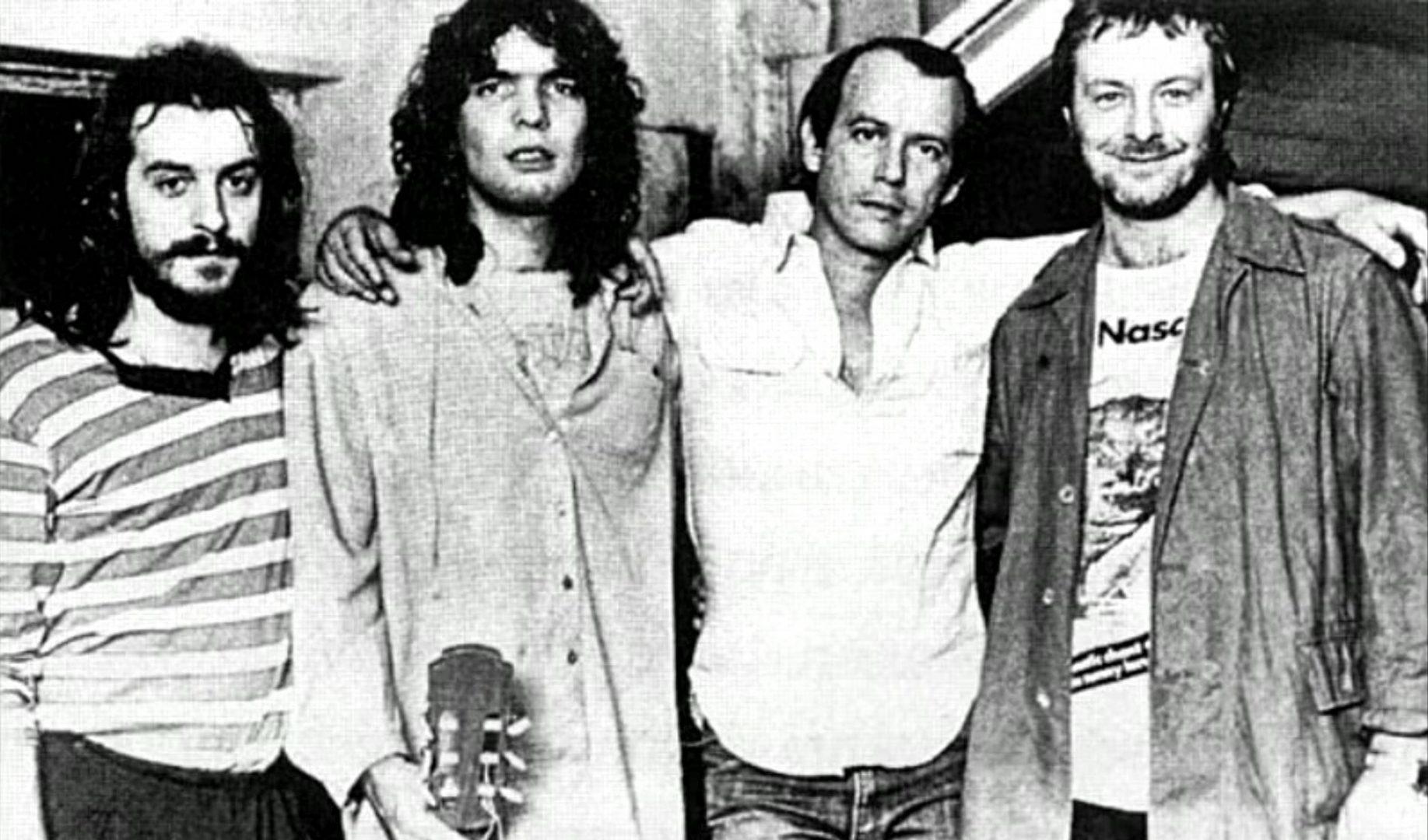 From left to right: Juan Carlos Baglietto, Santiago Feliú, Silvio Rodríguez and Leon Gieco.