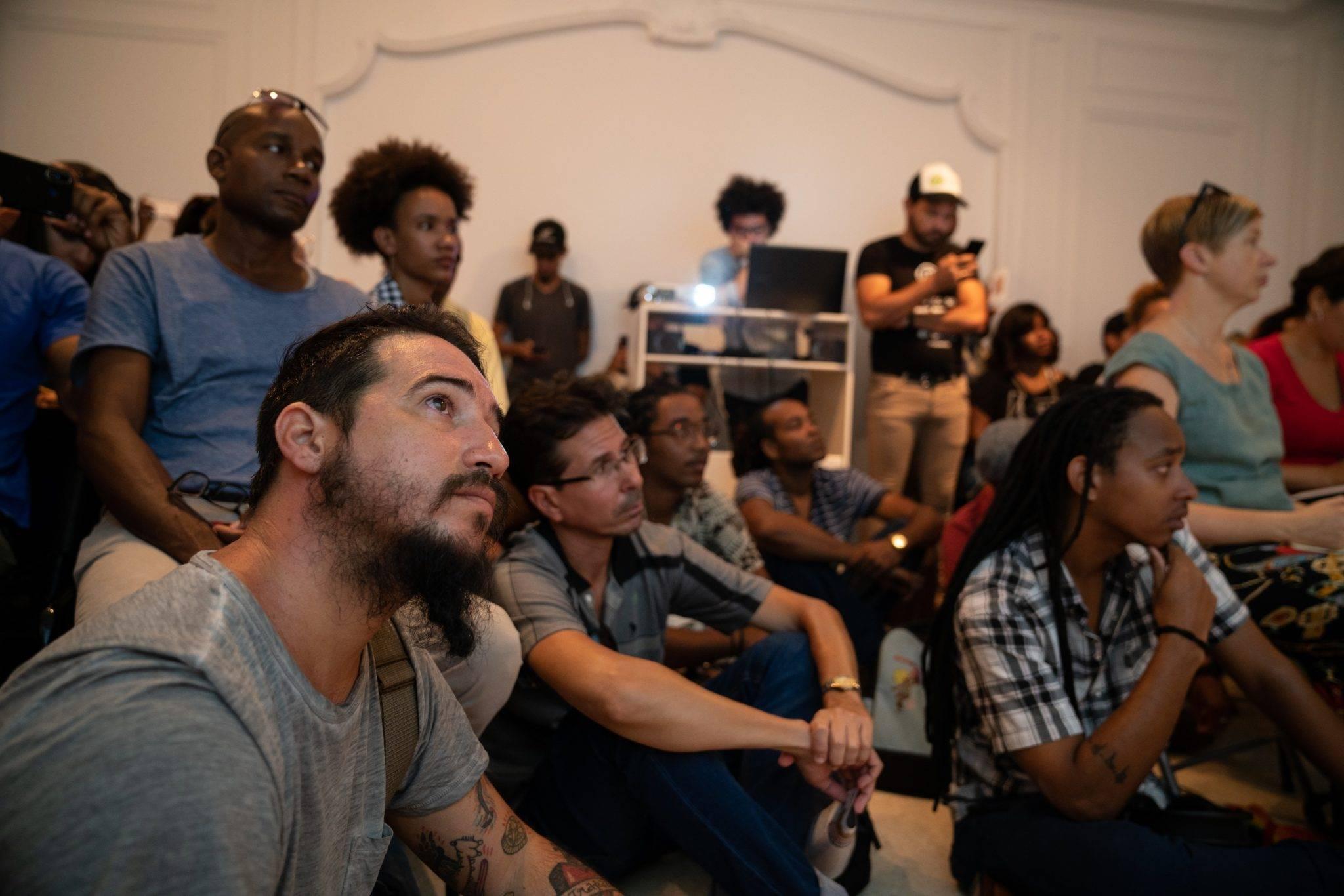 Durante las sesiones teóricas de AM-PM América por su Música. Foto: Dynamic Art