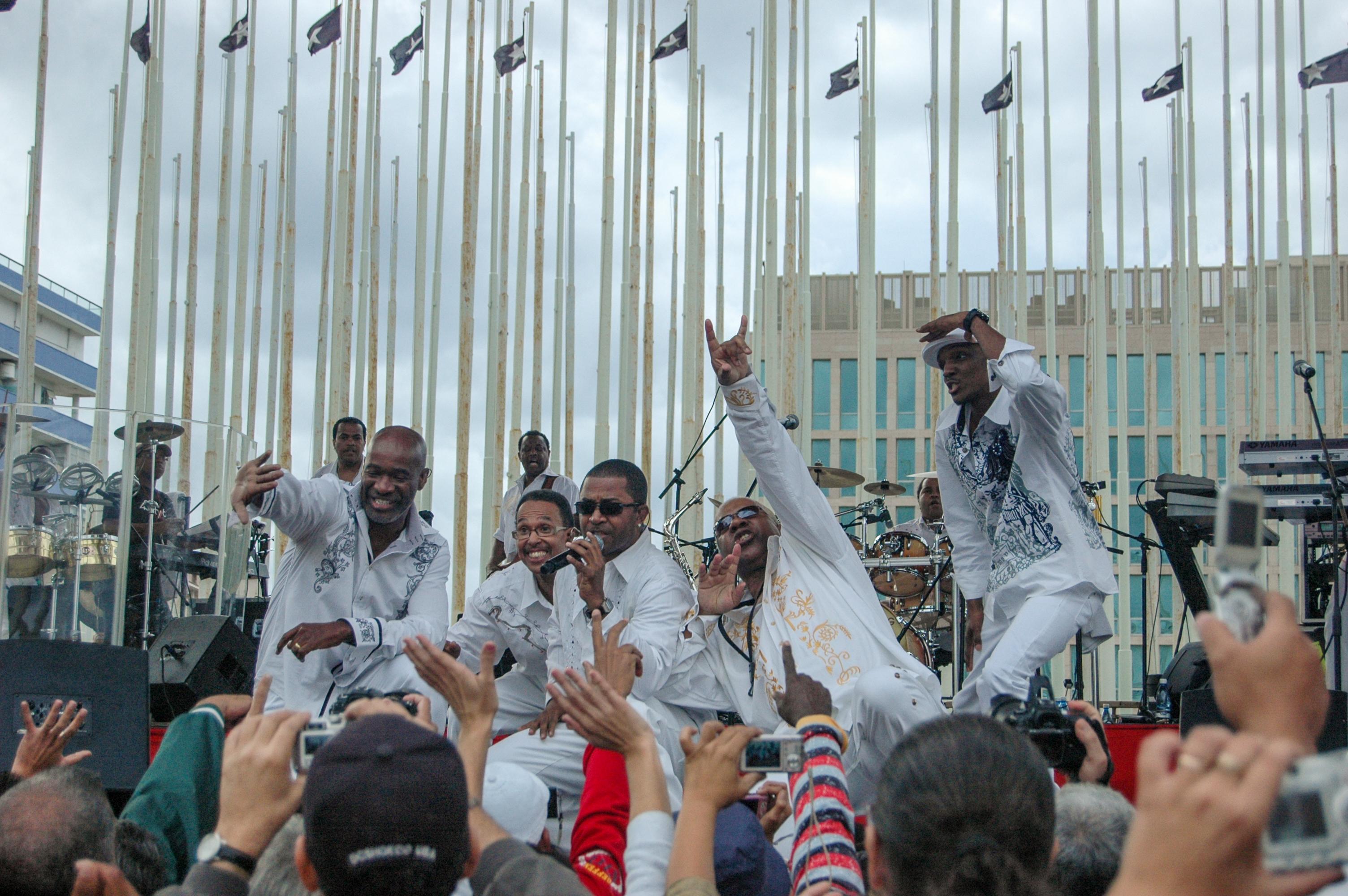 Concierto de Kool & The Gang en la Tribuna Antiimperialista José Martí, 20 de diciembre de 2009. Foto: Kaloian.