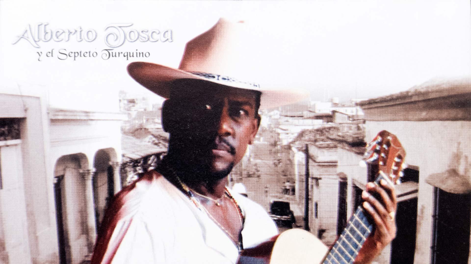 detalle de la portada del álbum Amor a Santiago, de Alberto Tosca y el Septeto Turquino.