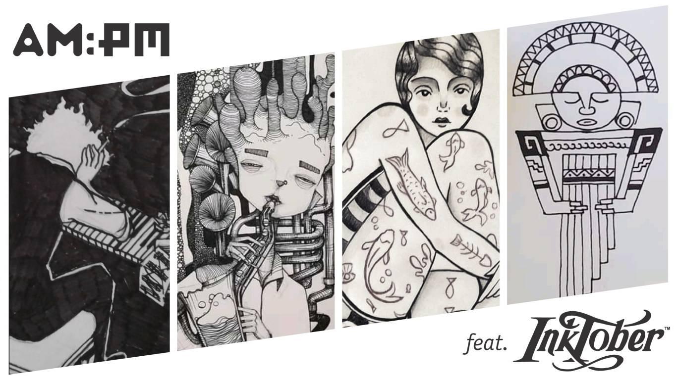 Magazine AMPM feat. Inktober 2019. Ilustración Mayo Bous / Magazine AM:PM.