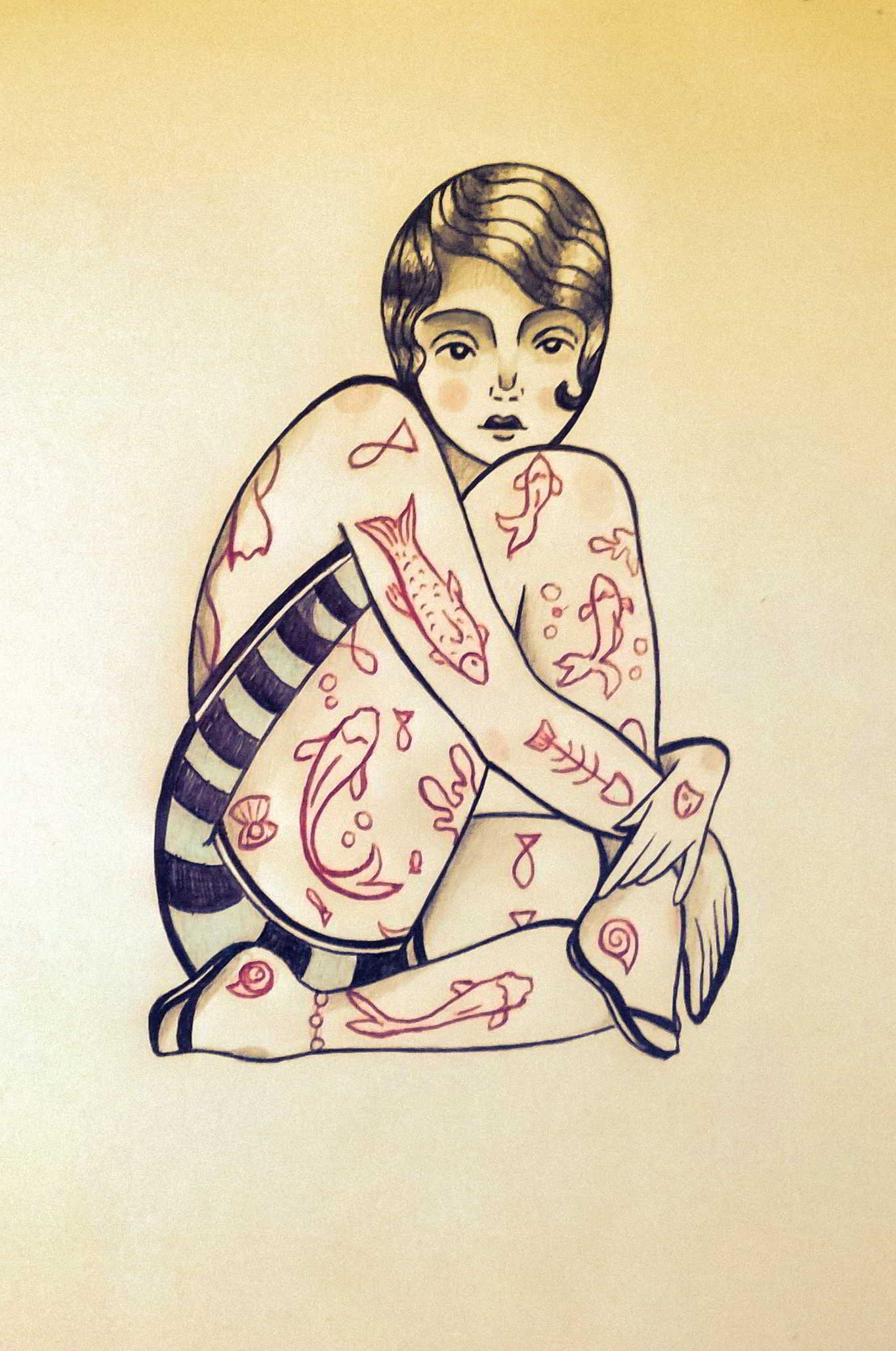 Inktober Día 18: Misfit. Ilustración: Lisset Cabrera Esquijarosa / Magazine AM:PM.