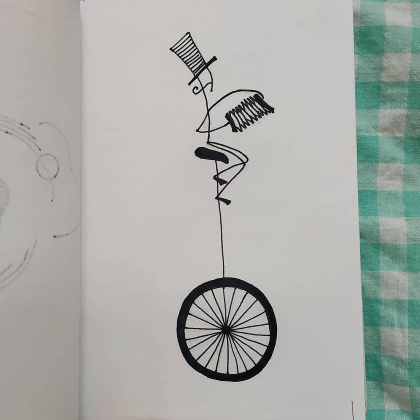 Inktober Inktober Día 28: Ride. Ilustración: Marlene Patricia Posada Villanueva / Magazine AM:PM.