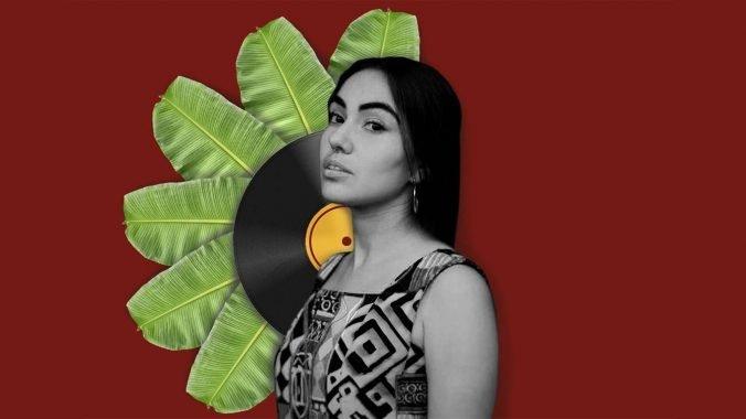 DJ Cami Layé Okún. Ilustración: María José Sardiñas, a partir de una fotografía de Ingrid Lobaina Ruiz.