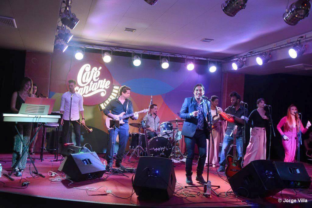 Presentación del nuevo álbum de Diego Gutiérrez, Piloto Automático, en el Café Cantante, el 29 de noviembre de 2019. Foto: Jorge Villa.