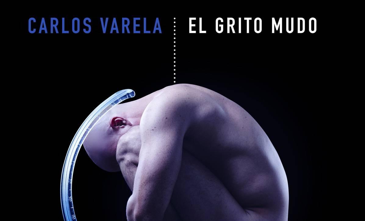 Detalle de la portada del álbum El Grito Mudo (2019), de Carlos Varela. Diseño: Erik Ravelo.