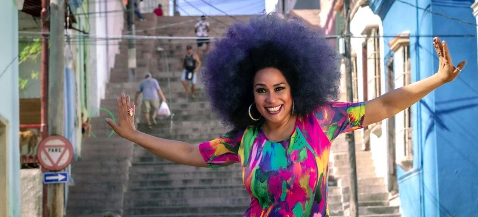 Aymée Nuviola en Santiago de Cuba. Foto: Cortesía de la entrevistada