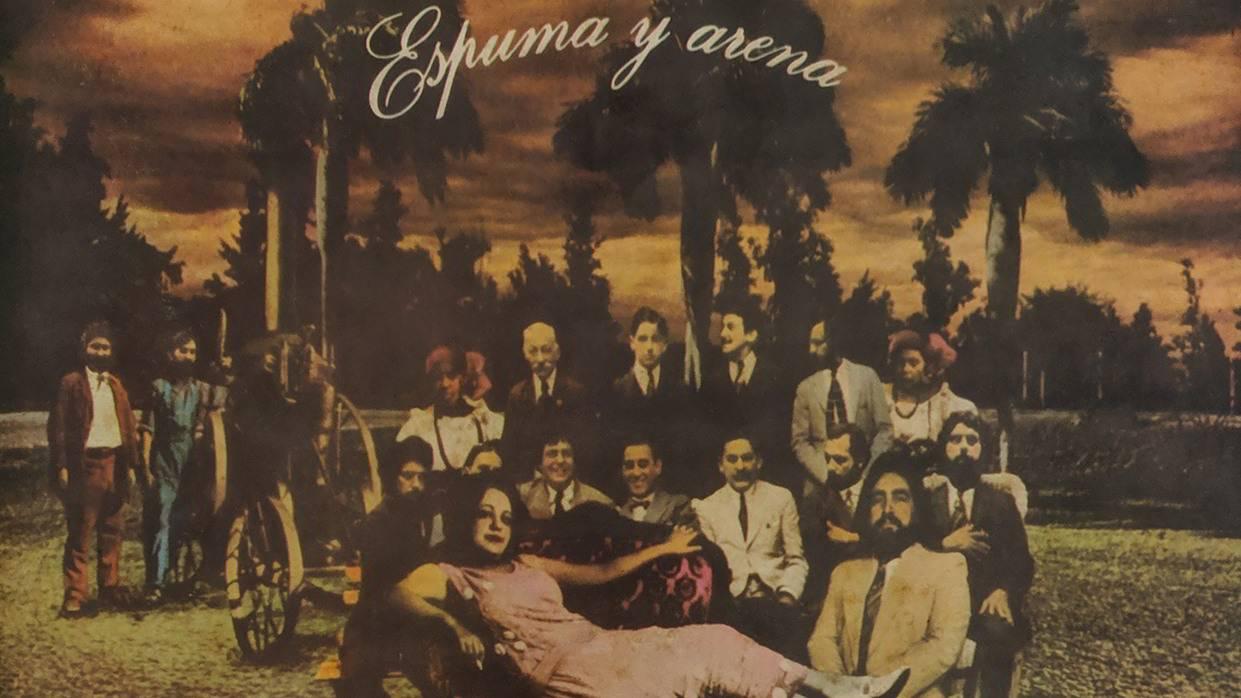 Cover of the album Espuma y arena. Design: Gory y Rubén Torres.