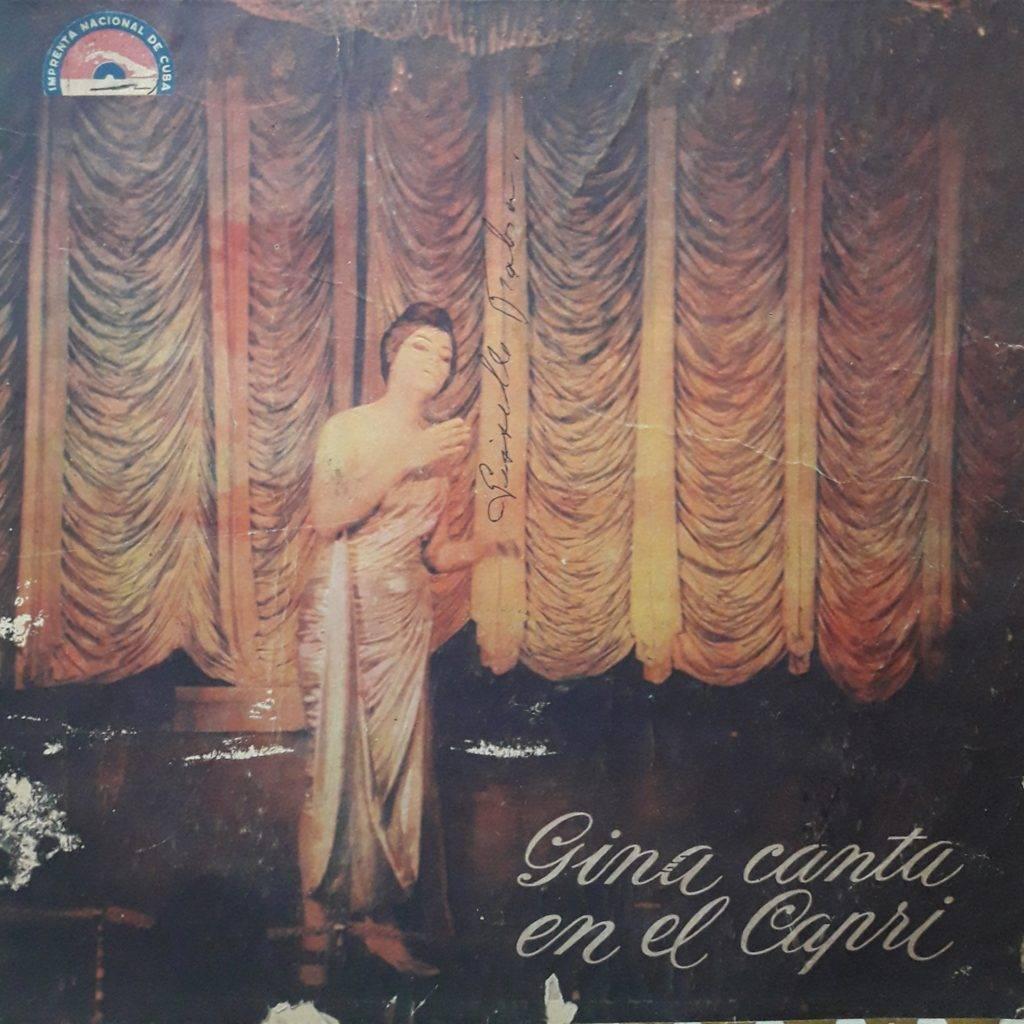 Portada del álbum Gina canta en el Capri