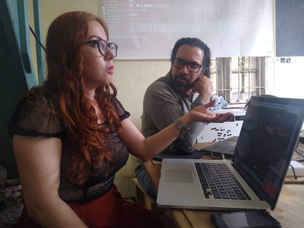 Malitzin Cortés and Iván Abreu during the Workshop in Havana. Photo: María Lucía Expósito