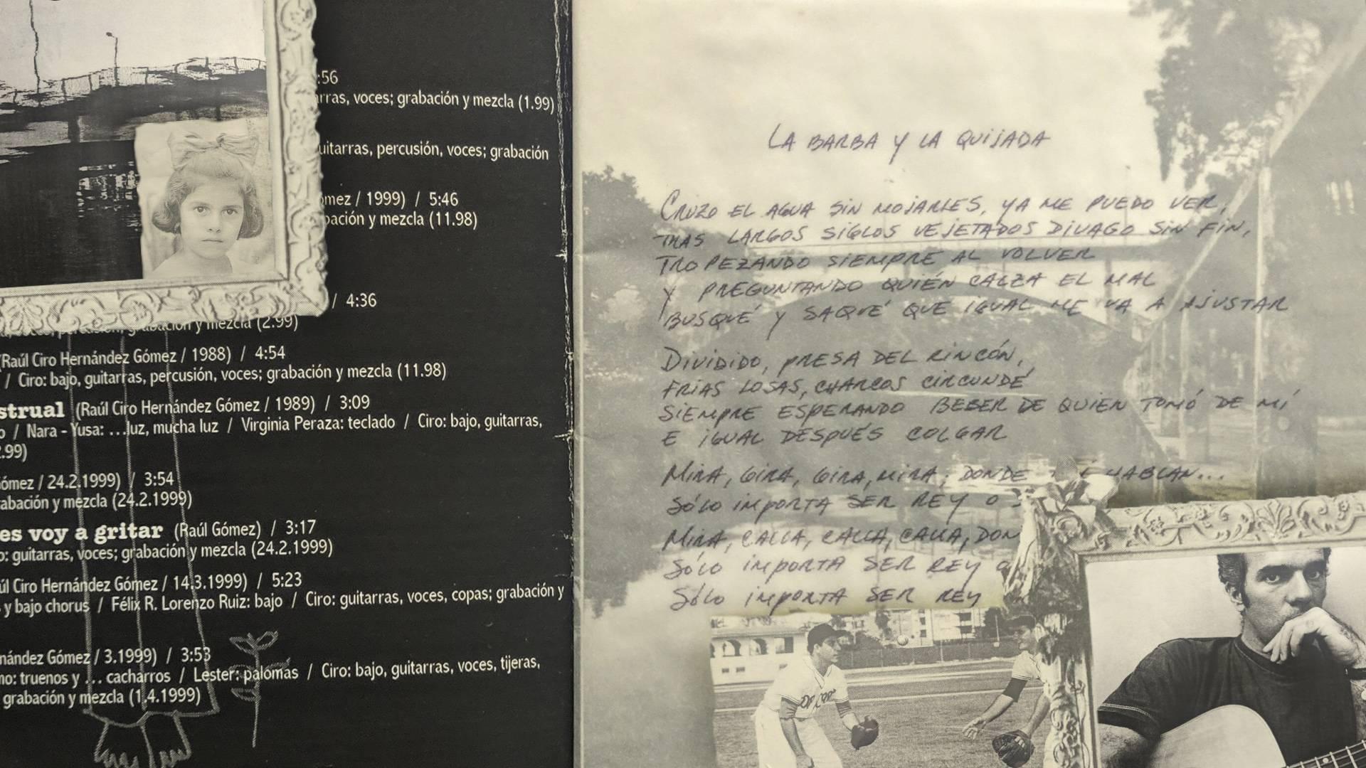 Fragments of the cover of the album Ciro 3C, by Raúl Ciro. Image: Maria José Sardiñas.