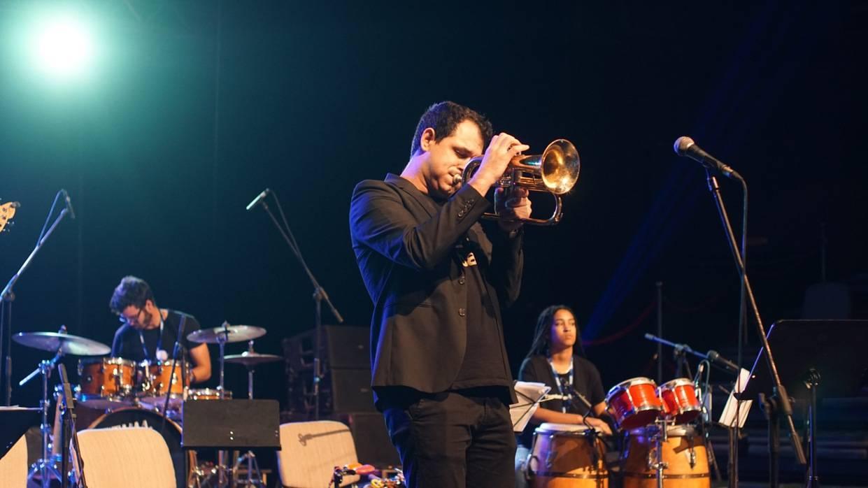 Mayquel González en el Festival Jazz Plaza 2020. Foto: Rolando Cabrera.