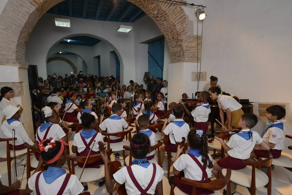 Children's Symphonic Center of Old Havana. Photo: Néstor Martí.