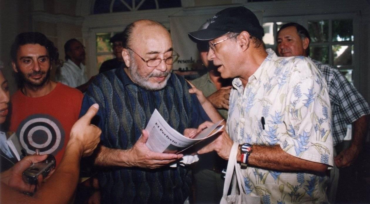 Rafael Bassi with Eddie Palmieri in Barrranquilla. Photo: Rafael Bassi / Jacoviche Melomanía Archive.