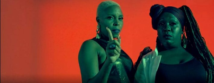 La Reyna y La Real en Chao Papito. Fotograma del videoclip.
