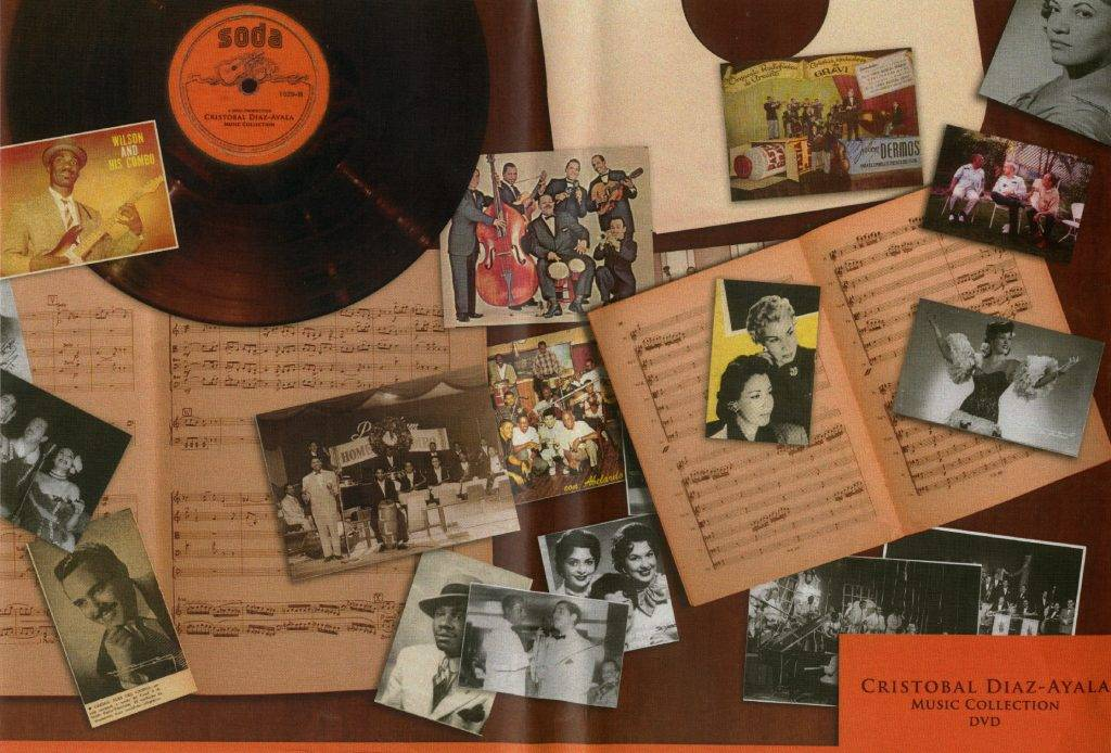 Un muestrario de los archivos de la Colección Díaz Ayala en la FIU, Miami. Foto: Colección Díaz Ayala. FIU, Miami.