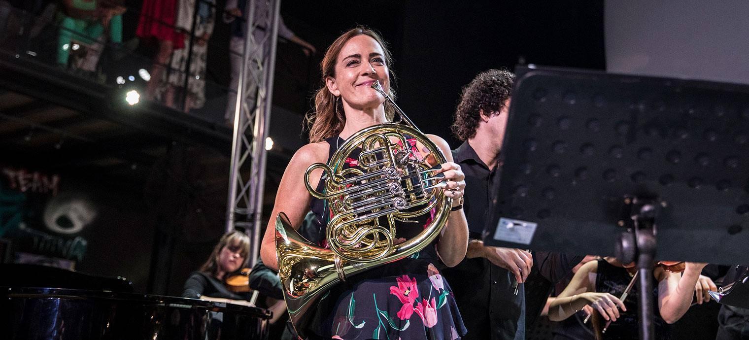 Sarah Willis en Fábrica de Arte. Foto: Larisa López.