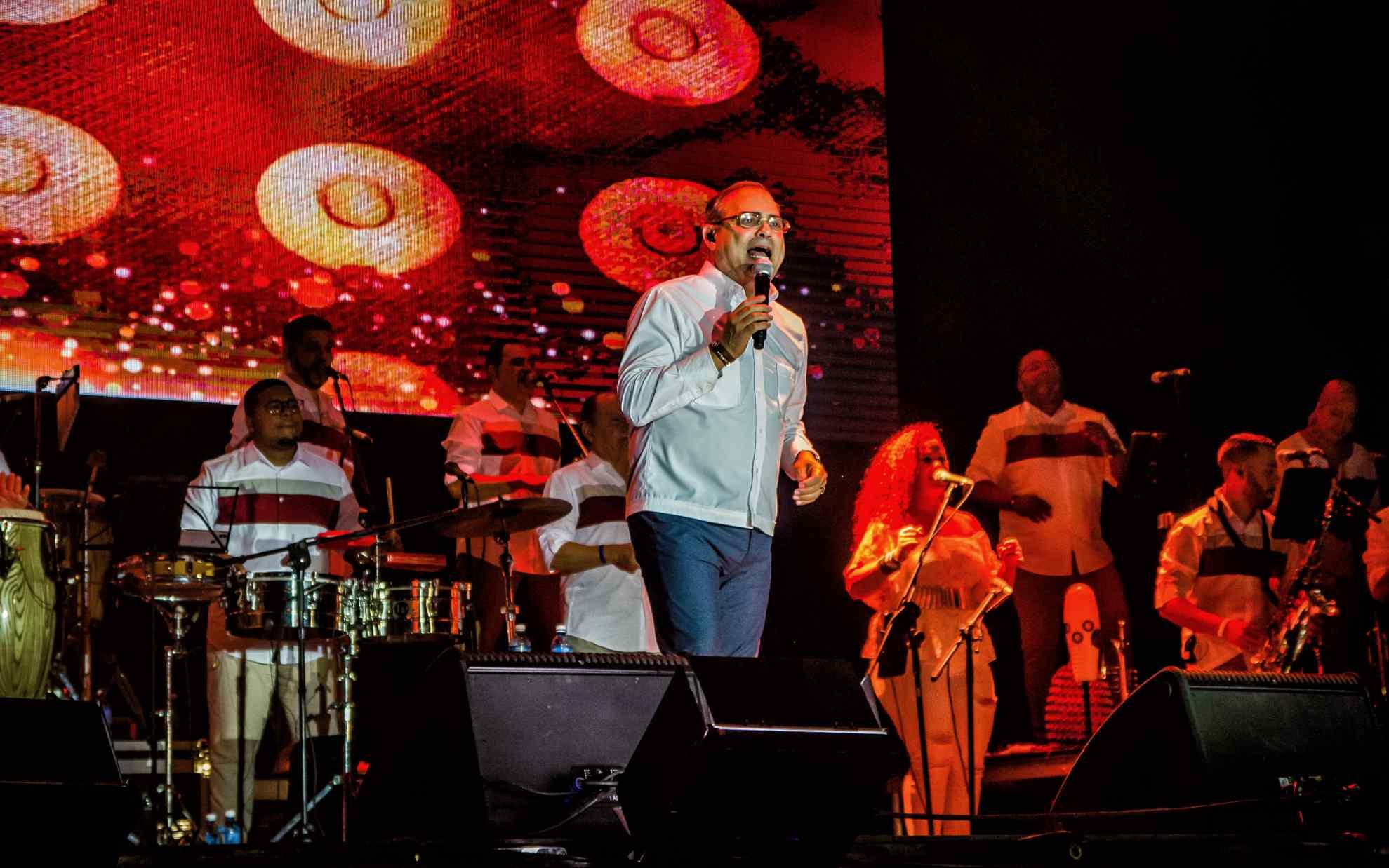 Gilberto Santa Rosa en el Festival Varadero Josone Rumba, Jazz & Son. Foto: Kako Escalona.