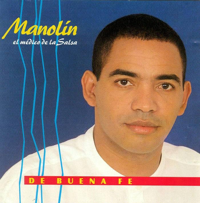 Portada del álbum De buena fe, de Manolín, el médico de la Salsa.