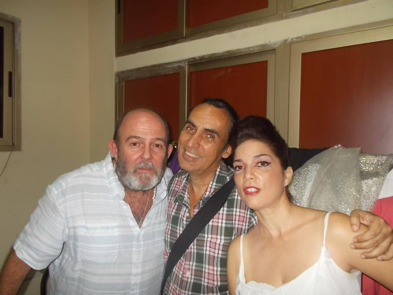 Carlos Díaz with Juan Piñera and Bárbara Llanes. Photo: Norge Espinosa.