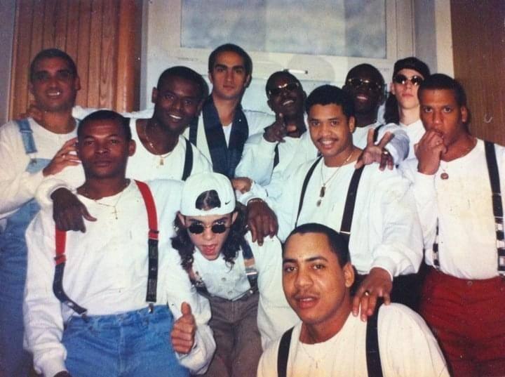 Con la banda de Manolín, el Médico de la Salsa. Foto: Cortesía del entrevistado.