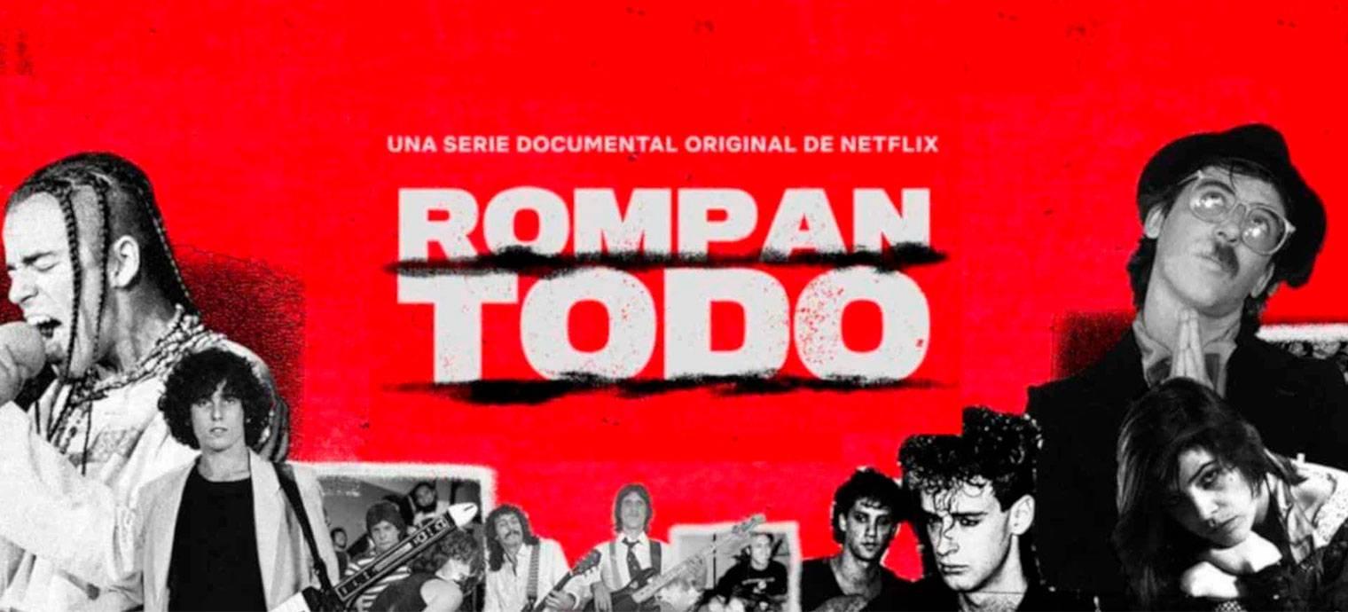 Cartel oficial del documental Rompan todo.