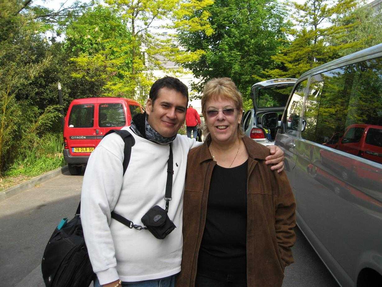 Lucía Huergo junto a Carlos Gaitán. Foto: Cortesía Niurka Sánchez.